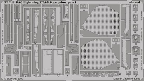 BAC Lightning F.2A/F.6 exterior 1/32  - 1