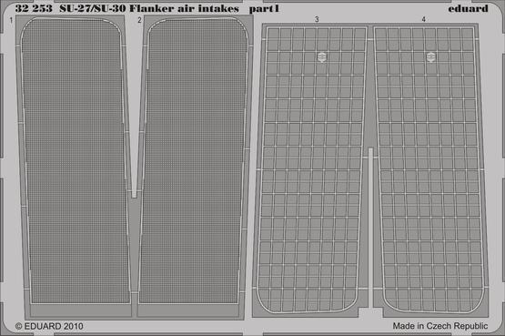Su-27/Su-30 Flanker air intakes 1/32  - 1