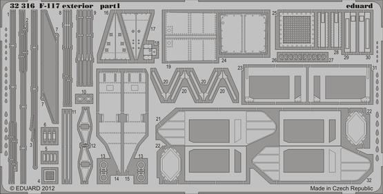 F-117 exterior 1/32  - 1