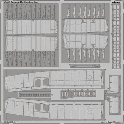 Tempest Mk.II vztlakové klapky 1/32