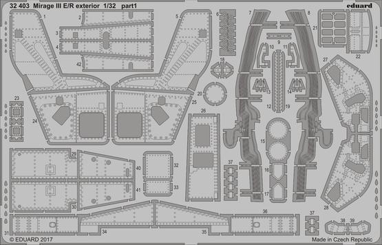 Mirage III E/R exteriér 1/32  - 1