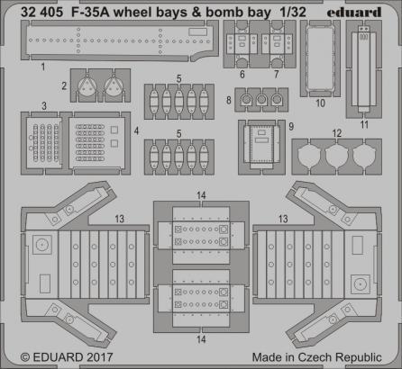 F-35A wheel bays & bomb bays 1/32