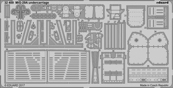 MiG-29A undercarriage 1/32