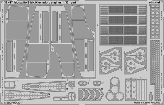 Mosquito B Mk.IX exterior / engines 1/32  - 1