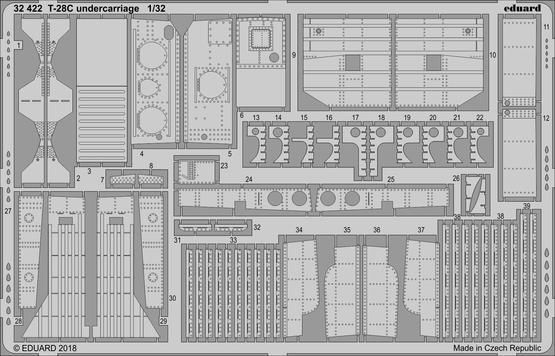 T-28C undercarriage 1/32