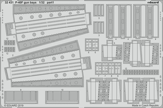 P-40F gun bays 1/32  - 1