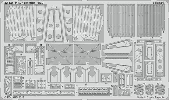 P-40F экстерьер 1/32