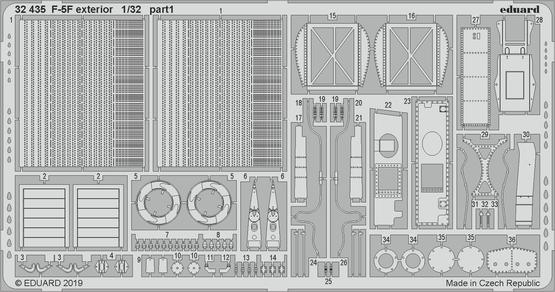 F-5F экстерьер 1/32  - 1