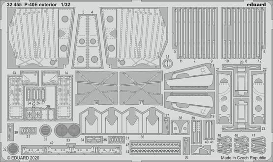 P-40E exterior 1/32