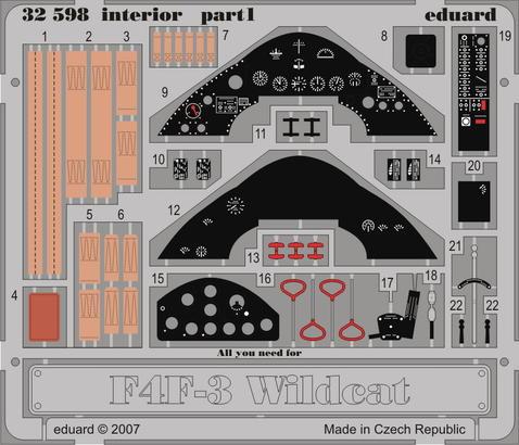 F4F-3 interior S.A. 1/32  - 1