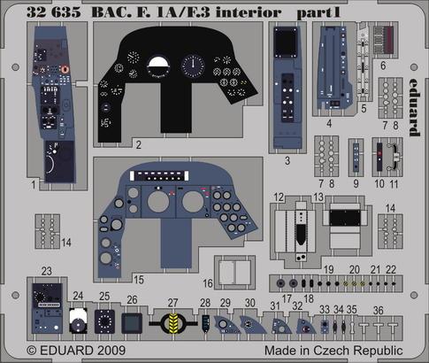 BAC Lightning F.1A/F.3 interior S.A. 1/32  - 1