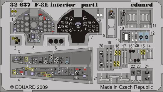 F-8E interior S.A. 1/32  - 1