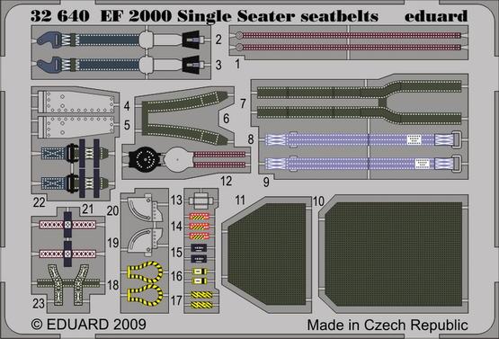 EF-2000 Typhoon Single Seater seatbelts 1/32