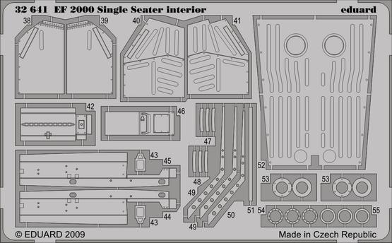 EF-2000 Typhoon Single Seater interior S.A. 1/32