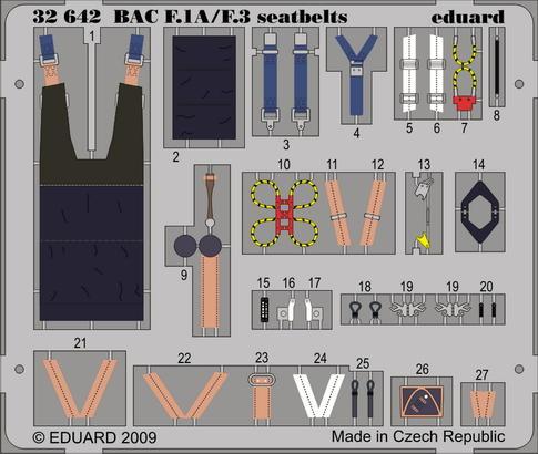 BAC Lightning F.1A/F.3 seatbelts 1/32
