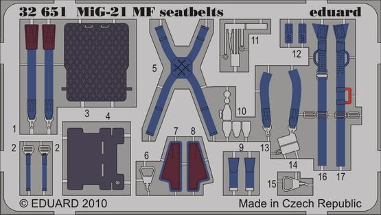 MiG-21MF KM1M seatbelts 1/32