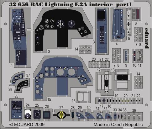 BAC Lightning F.2A interior S.A. 1/32  - 1