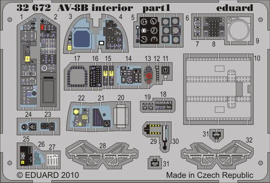AV-8B interior S.A. 1/32  - 1