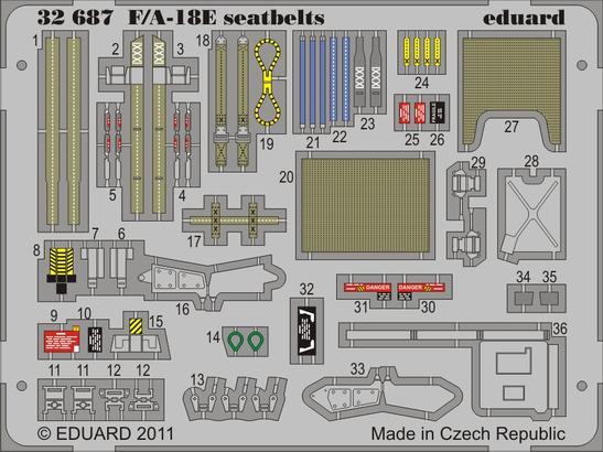 F/A-18E seatbelts 1/32
