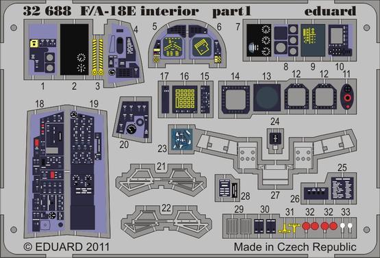 F/A-18E interior S.A. 1/32  - 1