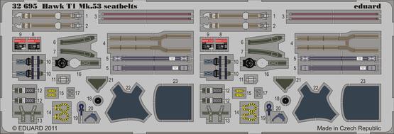 Hawk T1 Mk.53 seatbelts 1/32