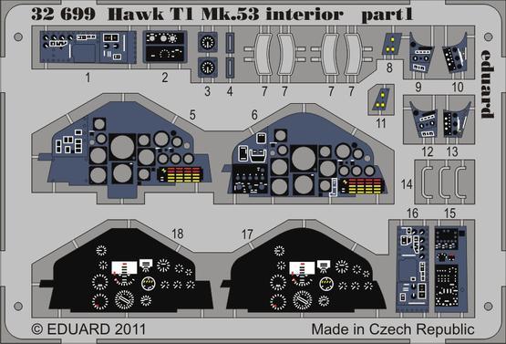 Hawk T1 Mk.53 interior S.A. 1/32  - 1