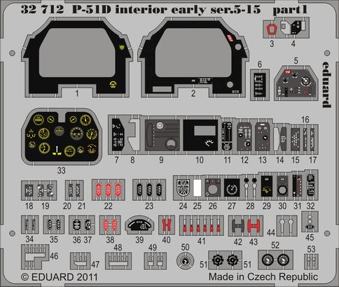 P-51D interior early ser.5-15 S.A. 1/32  - 1