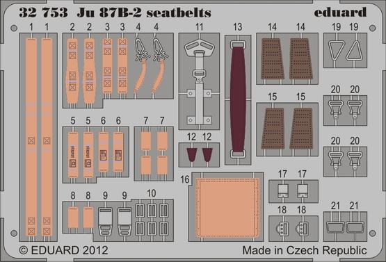 Ju 87B-2 seatbelts 1/32