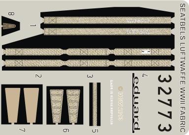 Seatbelts Luftwaffe WWII Fighter FABRIC 1/32  - 1