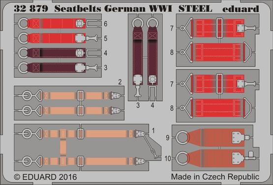 Seatbelts German WWI STEEL 1/32