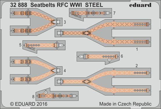 Seatbelts RFC WWI STEEL 1/32