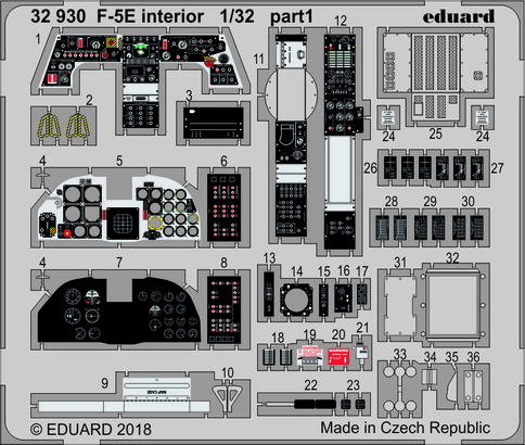 F-5E интерьер 1/32  - 1
