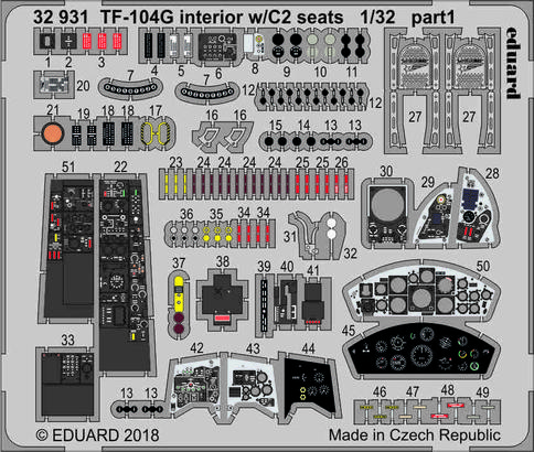 TF-104G interior w/C2 seats 1/32  - 1