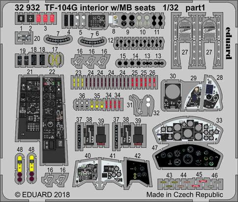 TF-104G interior w/MB seats 1/32  - 1