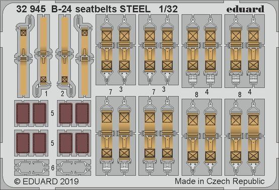 B-24 seatbelts STEEL 1/32
