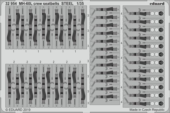 MH-60L crew seatbelts STEEL 1/35