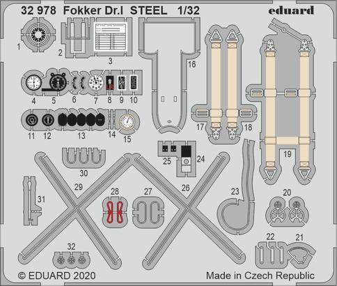 Fokker Dr.I STEEL 1/32