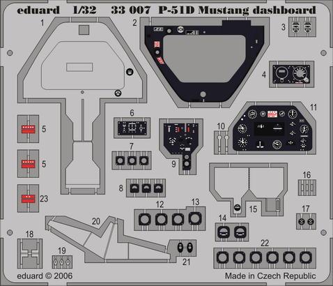 P-51D dashboard 1/32