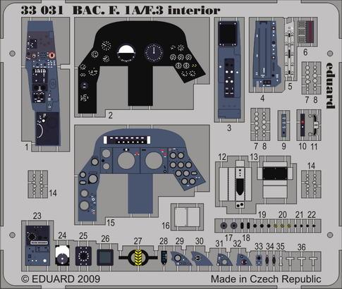 B.A.E. F.1A/F.3 interior S.A. 1/32