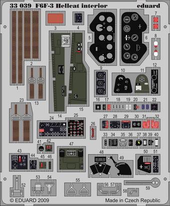 F6F-3 interior S.A. 1/32
