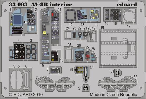 AV-8B interior S.A. 1/32