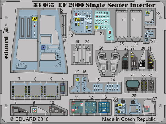 EF 2000 Single Seater interior S.A. 1/32