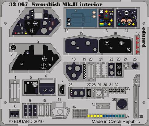 Swordfish Mk.II interior S.A. 1/32