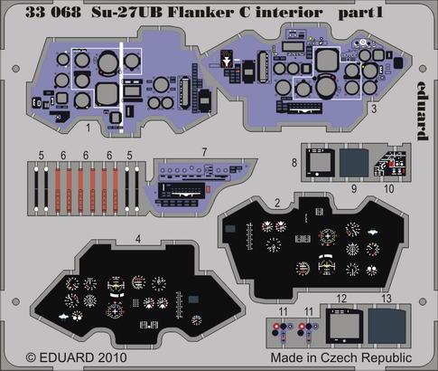 Su-27UB Flanker C interior S.A. 1/32  - 1