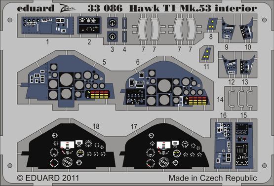 Hawk T1 Mk.53 interior S.A. 1/32