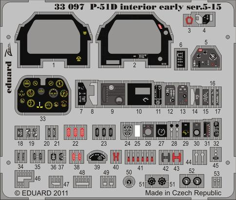 P-51D Interior early ser.5-15 S.A. 1/32