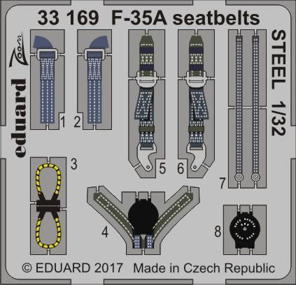 F-35A シートベルト スチール 1/32