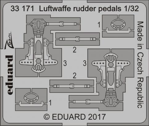 Luftwaffe pedály řízení 1/32