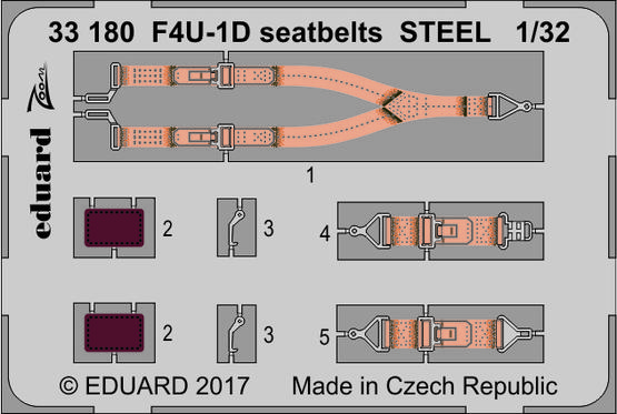 F4U-1D seatbelts STEEL 1/32