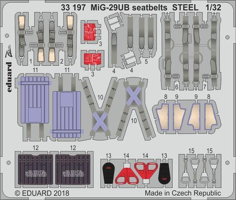 MiG-29UB seatbelts STEEL 1/32